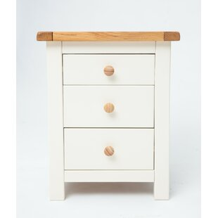 Cheney 3 Drawer Bedside Table By August Grove
