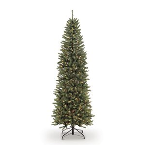 Pre-lit Fraser Pencil 4.5' Green Fir Artificial Christmas Tree with 150 Clear Lights with Stand