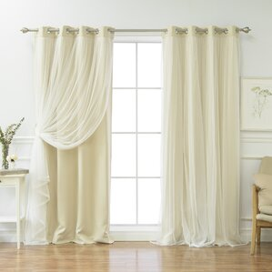 Superb Brockham Solid Blackout Thermal Grommet Curtain Panel Pair (Set Of 2)