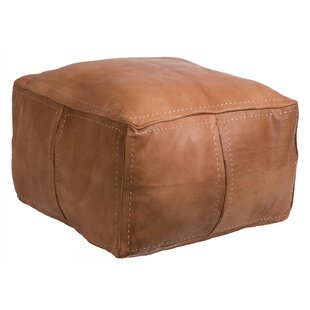 Moroccan Leather Pouf by Casab..