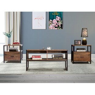 Jensen 3 Pieces Coffee Table Set by 17 Stories Discount