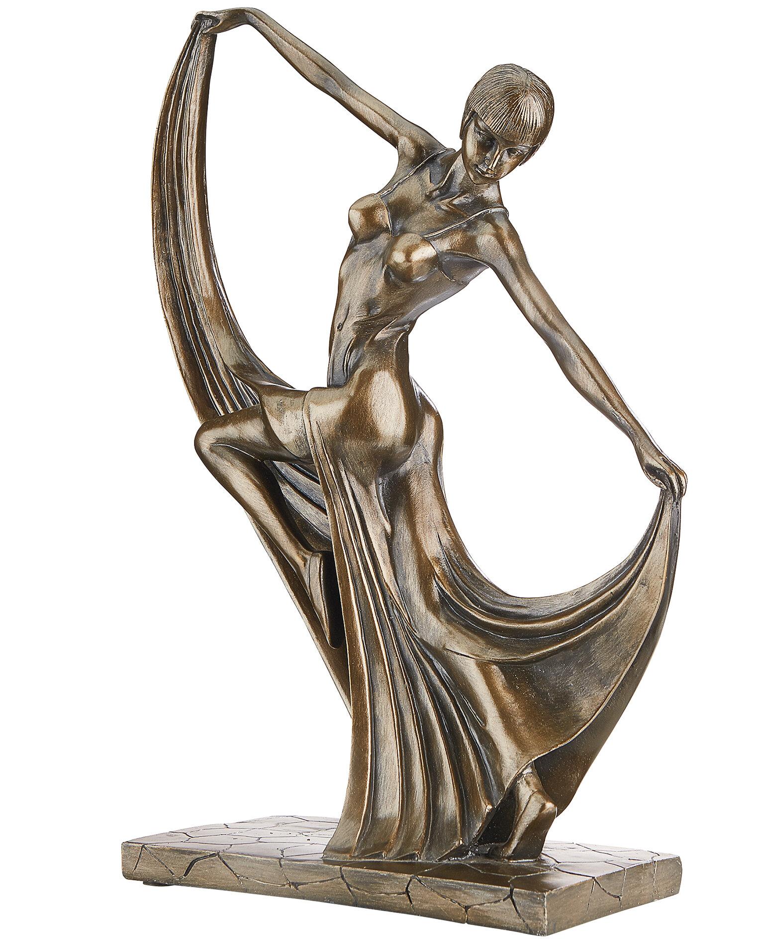 Weiblicher Akt Statue Design Toscano Sich k/ämmende Frau