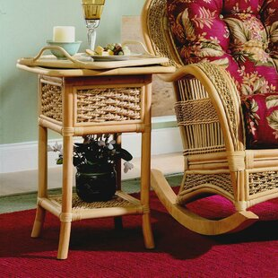 Inexpensive End Table by Spice Islands Wicker