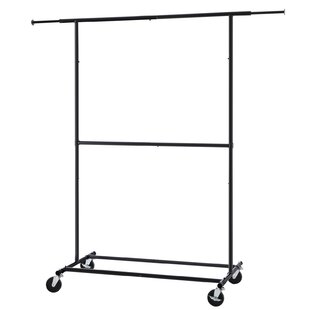 High Quality 41 5 W Telescopic Double Garment Rolling Clothes Rack Industrial Clothing  Wayfair Extremely Creative Home Design Plan.