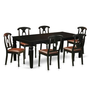 Beesley 7 Piece Hardwood Dining Set DarHome Co