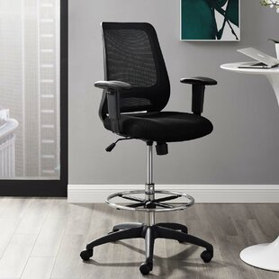 Clarksville Ergonomic Mesh Drafting Chair by Symple Stuff Sale