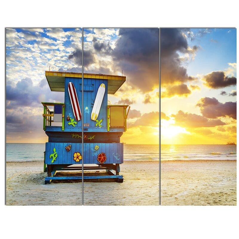 Designart Miami South Beach Sunrise 3