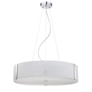 Kendal Lighting Glacier 5-Light Drum Chandelier