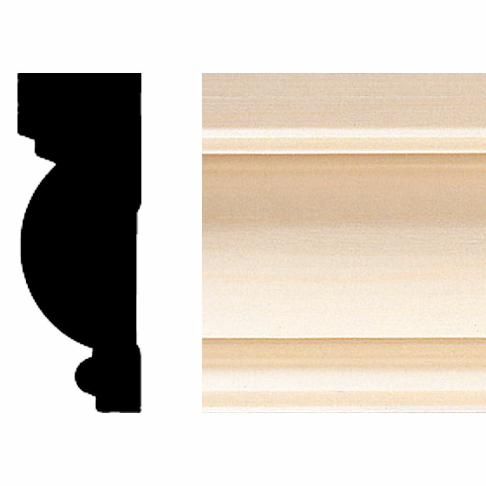 Manor House 1 In X 2 3 4 In X 8 Ft Hardwood Casing Chair Rail Moulding Wayfair