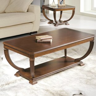 Elin Wood Top Coffee Table