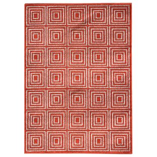 Milsap Orange Indoor/Outdoor Area Rug