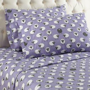 Latitude Run Chittenden Sheep Flannel Polyester Sheet Set