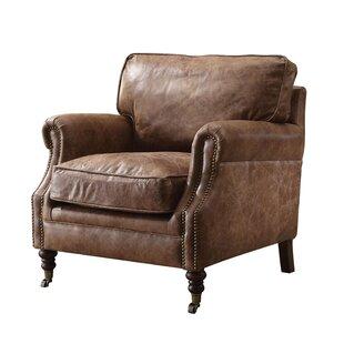 Gracie Oaks Babita Top Grain Leather Club Chair