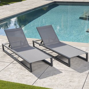 Orren Ellis Husman Reclining Chaise Lounge (Set of 2)