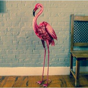 Tenenbaum Giant Metal Flamingo Statue By Sol 72 Outdoor