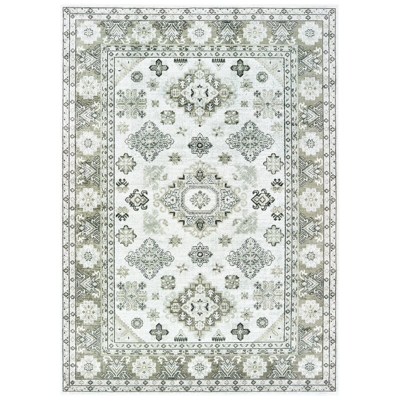 World Menagerie Schilling Off White Area Rug Wayfair
