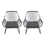 Gordonsville Patio Chair with Cushions (Set of 2)