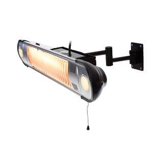 Jaylen Heat And Light Wall 1500W Electric Patio Heater By Belfry Heating