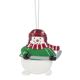 Hockey Snowman Hanging Figurine by The Holiday Aisle