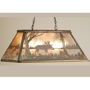 Meyda Tiffany Moose at Lake 6-Light Pool Table Light