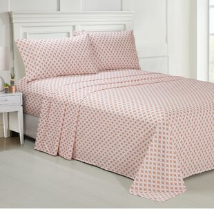 Geometric Premium Microfiber Sheet Set by Ellen Tracy Best #1