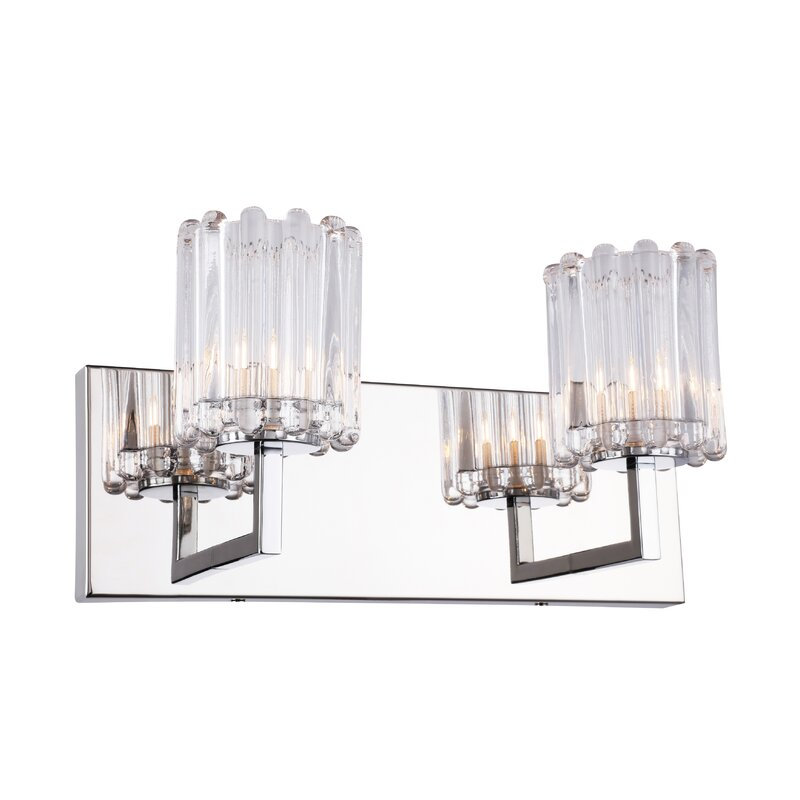 House Of Hampton Rosendahl Bath 2 Light Vanity Light Wayfair