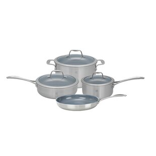 Spirit 7 Piece Non-Stick Stainless Steel Cookware Set