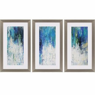Surface By Jardine 3 Piece Framed Painting Print Set Paragon