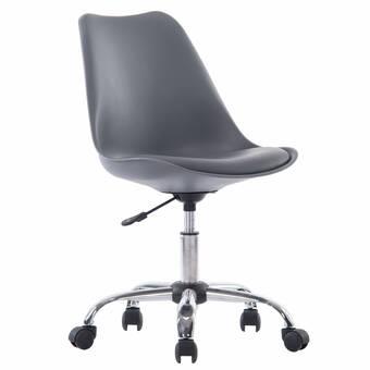 Symple Stuff Aceves Genuine Leather Task Chair Reviews Wayfair
