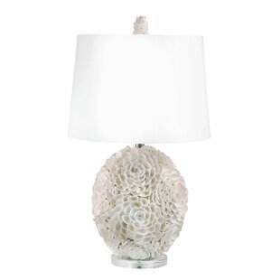 Pinecrest Hand Applied Natural Shell LED 26 Table Lamp