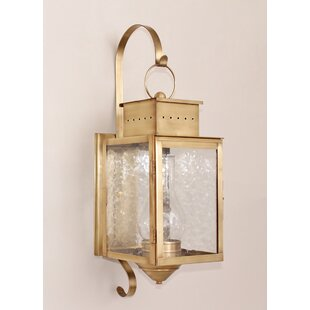 Reviews Wildes 1-Light Outdoor Wall Lantern By Breakwater Bay