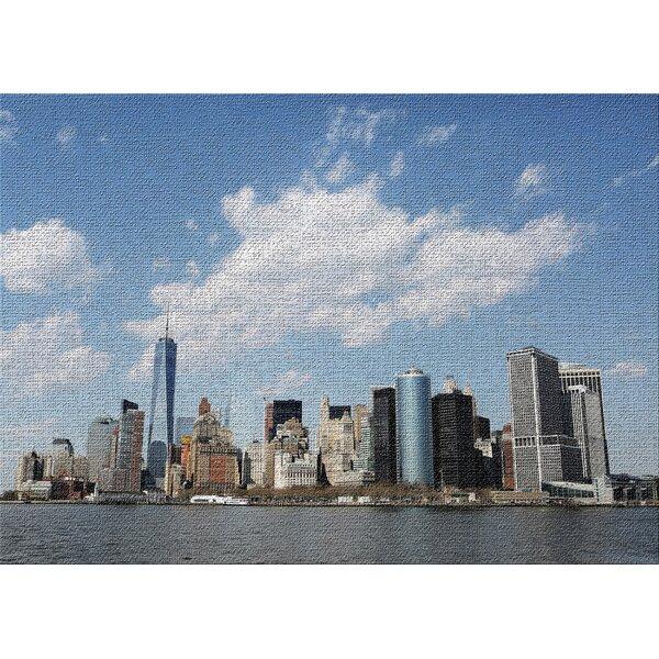 East Urban Home City Of New York 1 Blue Area Rug Wayfair