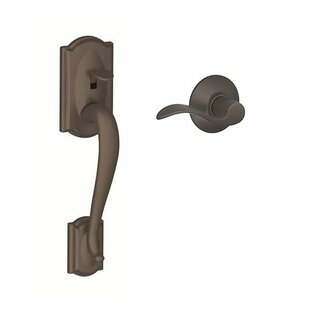 FE Series Camelot Lower Half Handleset with Accent Lever by Schlage