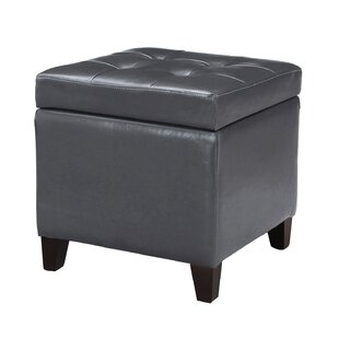 Vanwormer Square Tufted Storage Ottoman by Winston Porter