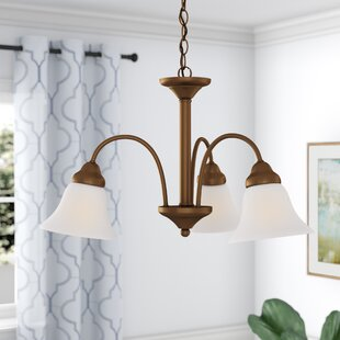 Scaggs Transitional 3-Light Shaded Chandelier