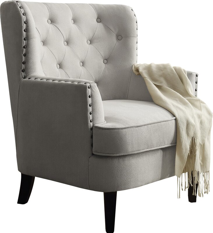 carter tufted arm chair & reviews | joss & main