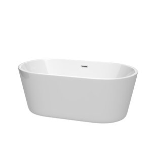 Inexpensive Carissa 60 x 32 Freestanding Soaking Bathtub By Wyndham Collection
