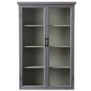 Bungalow Rose Edwardsburg Distressed Wood China Cabinet