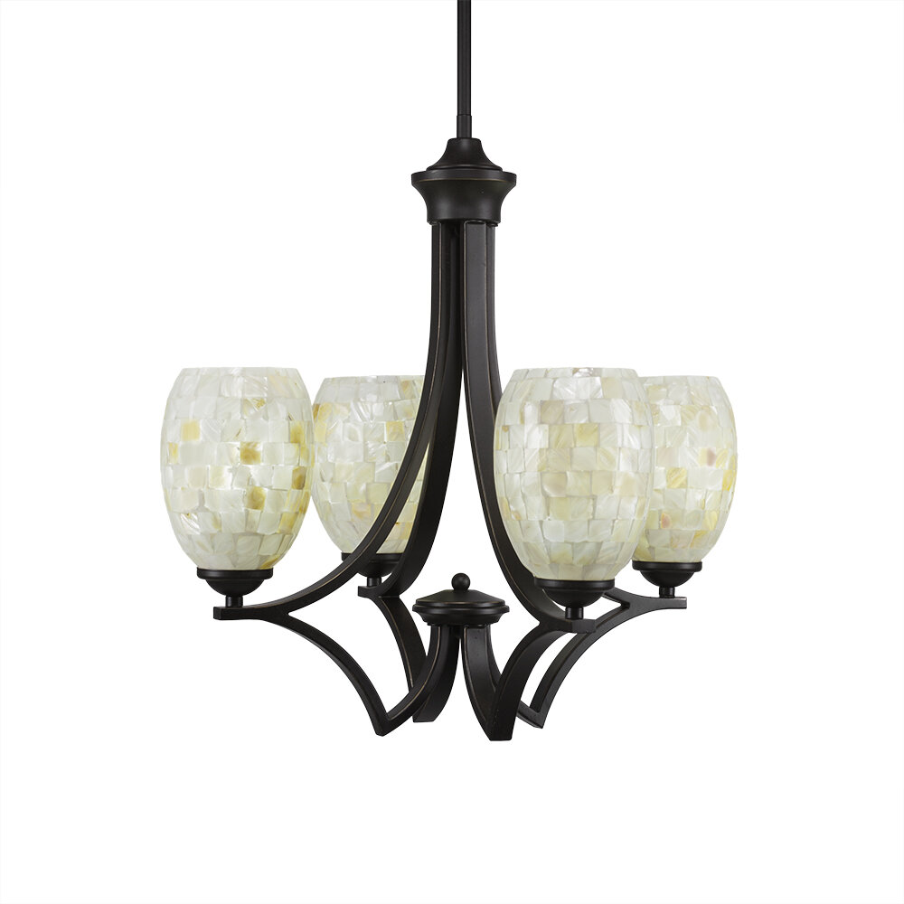 World Menagerie Cambridge 4 Light Shaded Classic Traditional Chandelier Wayfair