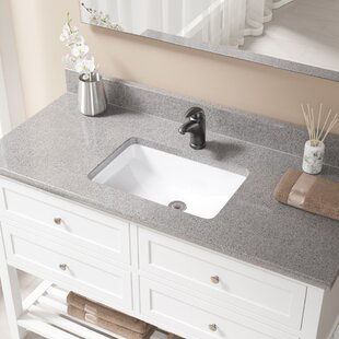 Reviews Vitreous China Rectangular Undermount Bathroom Sink with Overflow And Drain Assembly By MR Direct