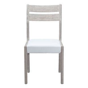 Shop For Cavanaugh Genuine Leather Upholstered Dining Chair (Set of 2) by Rosecliff Heights Reviews (2019) & Buyer's Guide