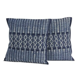 Enchanted Hills Hand Dyed Batik Cotton Pillow Cover (Set of 2)
