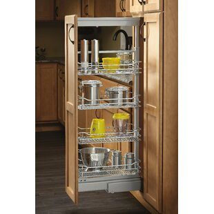Rev-A-Shelf 4-1/8 in. Chrome 4 Basket Pull-Out Pantry with Soft-Close Slides
