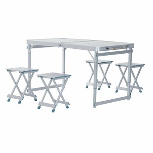 Freeport Park Spivey Outdoor Folding Aluminum Picnic Table