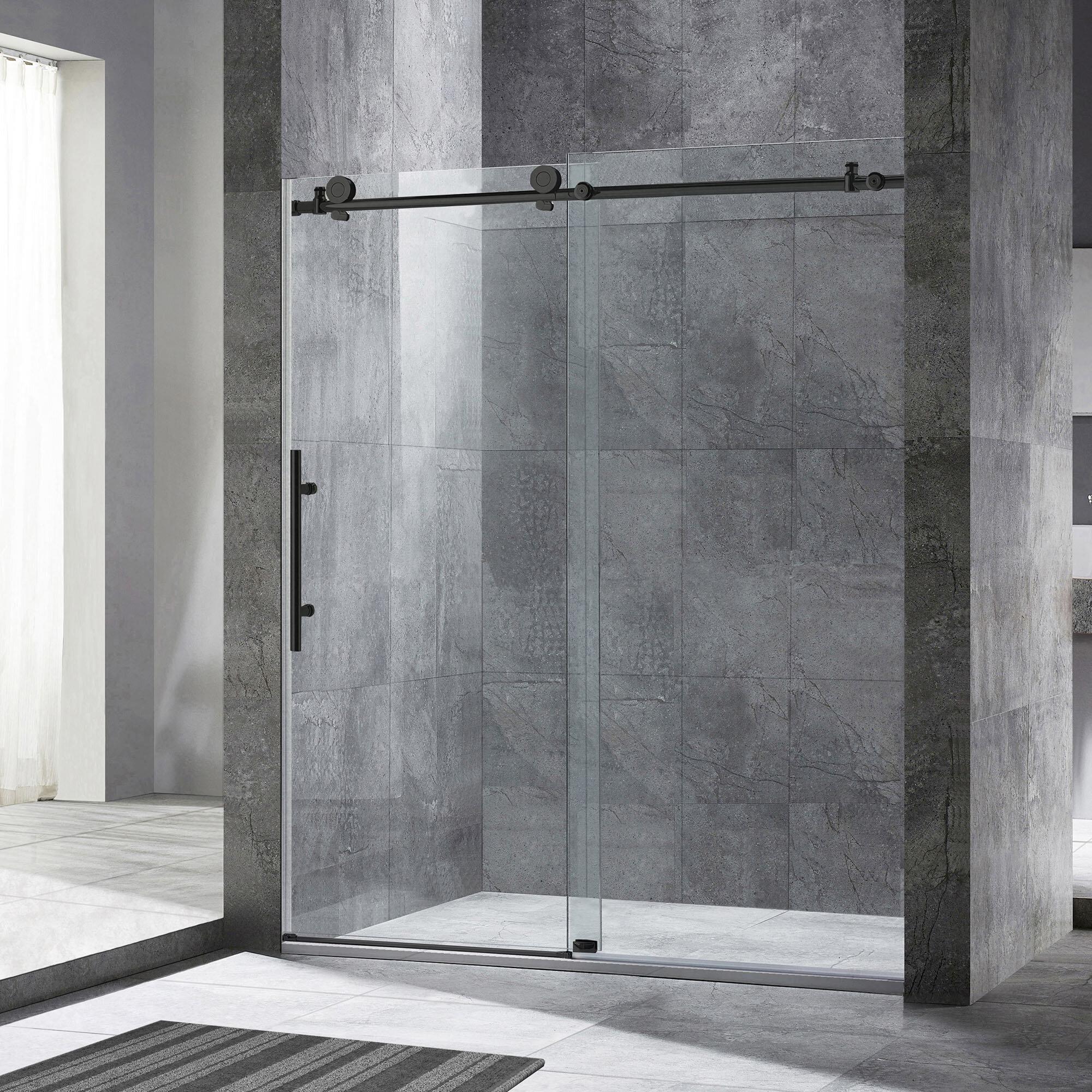 10 x 10 Single Sliding Frameless Shower Door