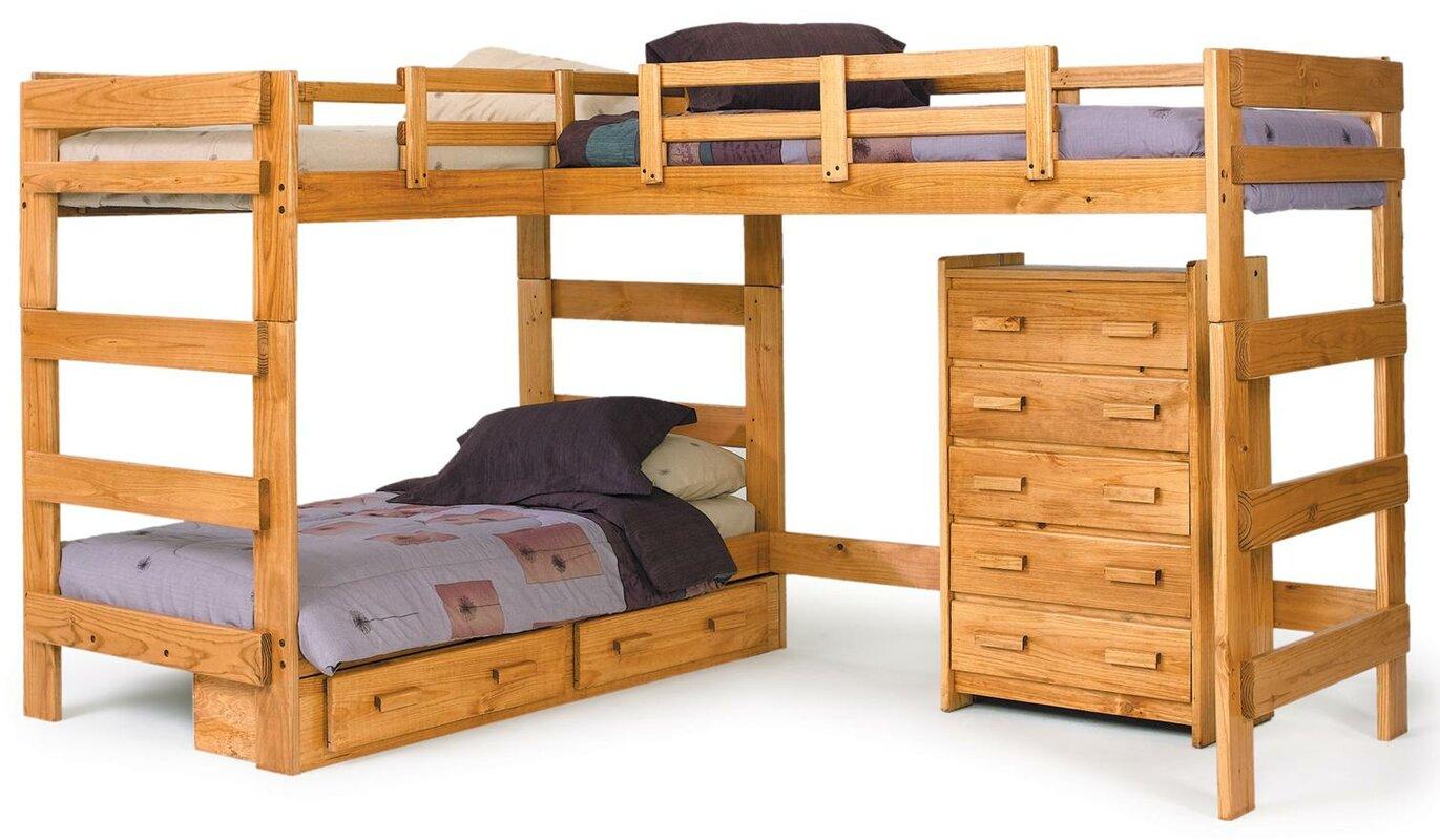 Twin L Shaped Bunk Bed Configurable Bedroom Set