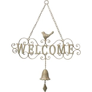 Welcome Decorative Scrollwork Metal Door Hanger Bell by Precious Moments