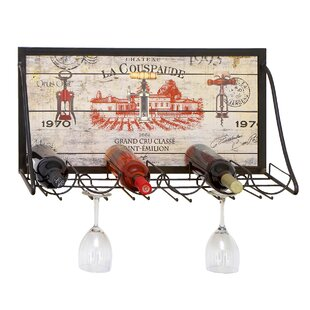 Urban Chateau La Couspaude 6 Bottle Hanging Wine Rack by EC World Imports