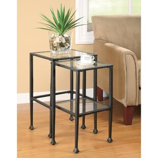 Best Price McDonald Metal 2 Piece Nesting Tables By Ivy Bronx