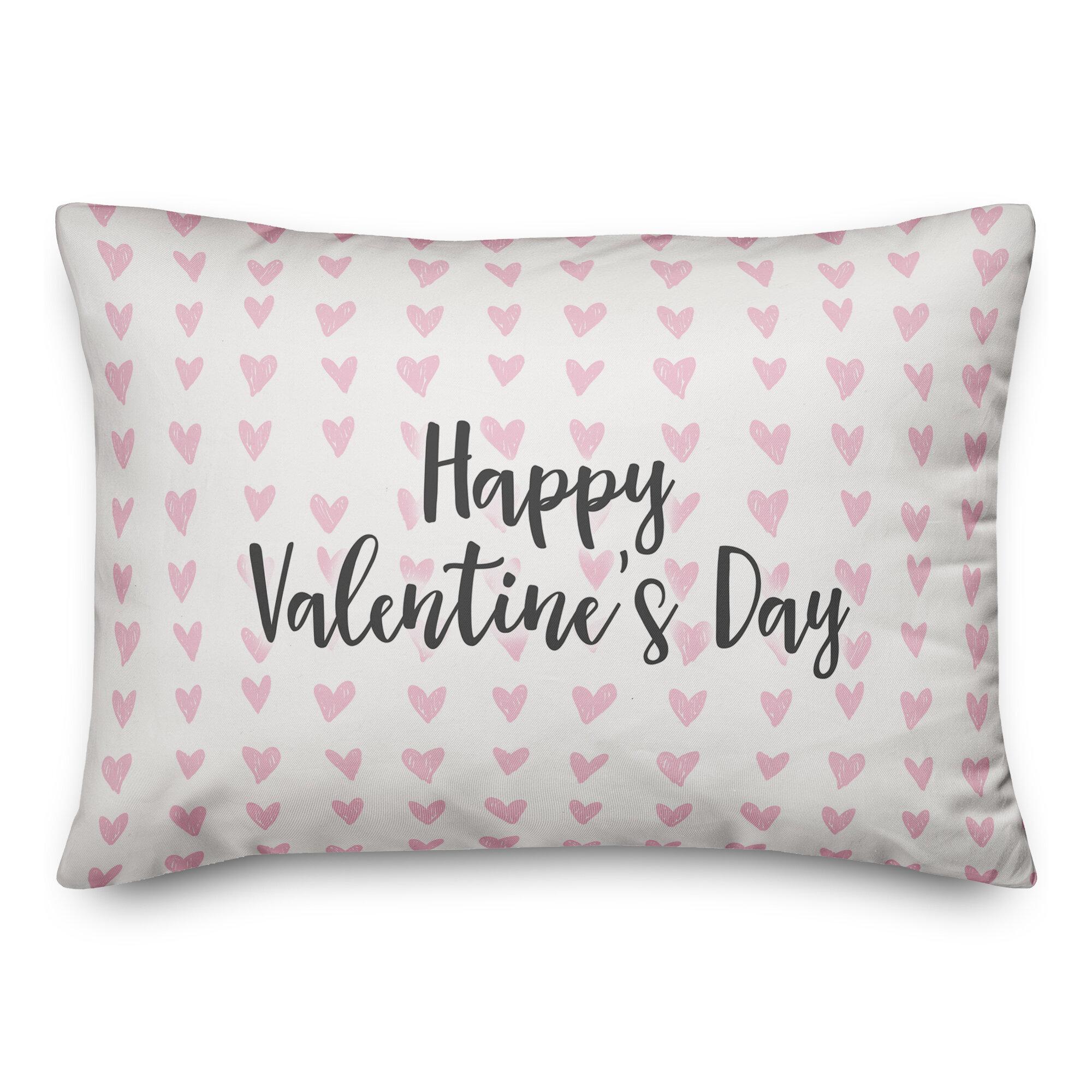 Ebern Designs Lyell Happy Valentine S Day Throw Pillow Wayfair